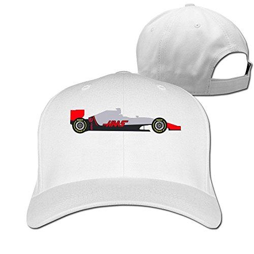 BODAP Haas F1 Team Logo Adjustable Baseball Cap White