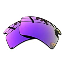 SEEABLE Premium Polarized Mirror Replacement Lenses for Oakley Flak 2.0 OO9295 Sunglasses - Violet Mirror