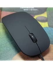 Black Color Slim Mini 2.0USB Wired Optical Mouse Mice For Mac Windows Office