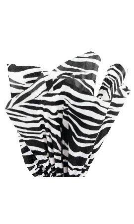 Sprinkles Gifts BULK Zebra Animal Party Print Gift Bag Wrap TISSUE PAPER 120 sheets ( 20
