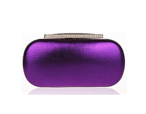 Sac Purple Gold Mariage Sacs à De D'embrayage Mariée De GSHGA Main Sacs Diamant Sacs De Soirée Sacs Femmes HqTan4pwxO