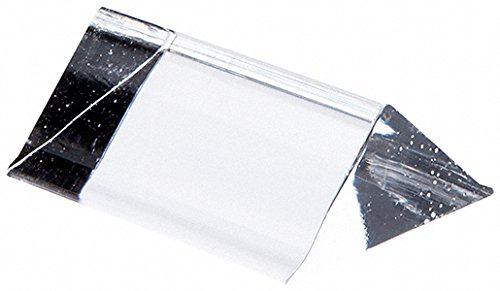 Plymor Brand Clear Acrylic Triangular Sign or Label Display Block, 2'' W x .75'' D x .75'' H