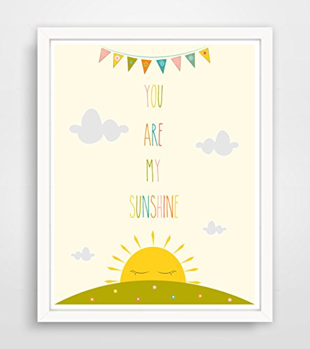 You Are My Sunshine My Only Sunshine Art by Finny and Zook ** FRAME NOT INCLUDED by Finny and Zook