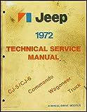 1972 Jeep Repair Shop Manual Original - All models