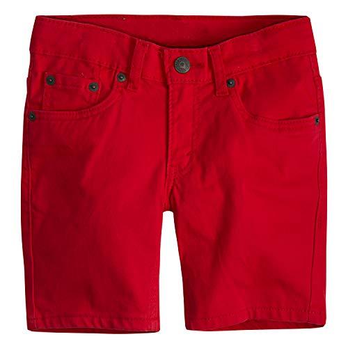 Levi's Boys' Little 511 Slim Fit Soft Brushed Shorts, Chinese Red, 5]()