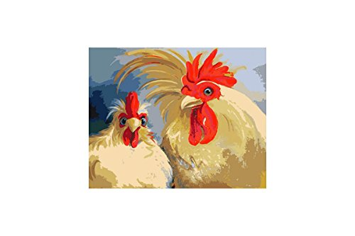 PAINT BY NUMBERS KIT ROOSTERS