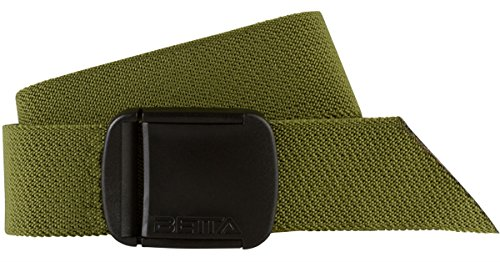 BETTA 1.5 Inch Wide Men's Elastic Stretch Belt with Fully Adjustable High-Strength Buckle (Large, Green)
