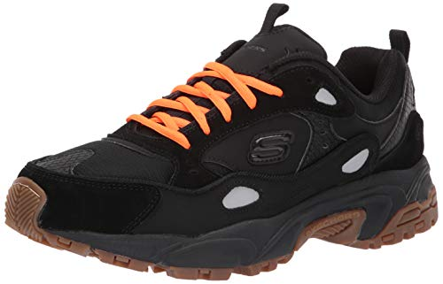 (Skechers Men's Stamina Contic Oxford, Black, 9.5 M US)