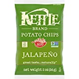 Kettle Brand Potato Chips, Jalapeno, 2 Oz