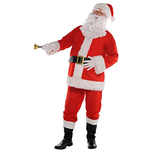 Costumes Usa Amscan Flannel Santa Suit for Adults, Christmas Costume, 3 XL, with Included Accessories