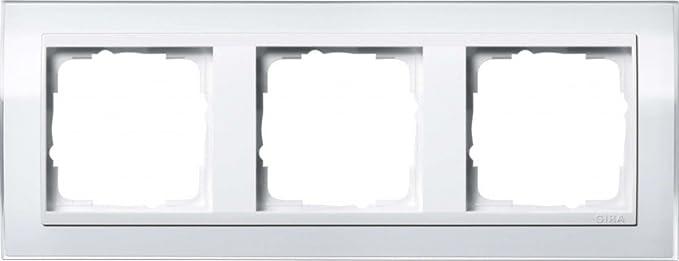 Gira 0213723 Abdeckrahmen 3fach für reinweiß Event Klar Weiß