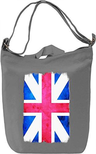 UK Flag Borsa Giornaliera Canvas Canvas Day Bag  100% Premium Cotton Canvas  DTG Printing 
