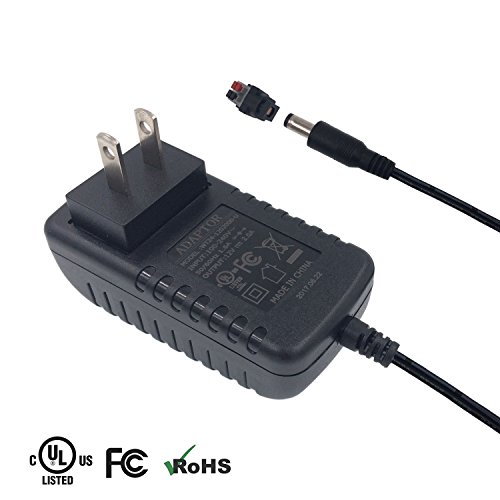 12v Ac Power Connectors (ZIUMIER AC to DC 12V 2A 24W Power Supply Adapter Switching Transformer for CCTV Security Camera DVR NVR LED Strip Light ,5.5mmx2.1mm Barrel Jack,UL/CE/FCC/ROHS Approved)