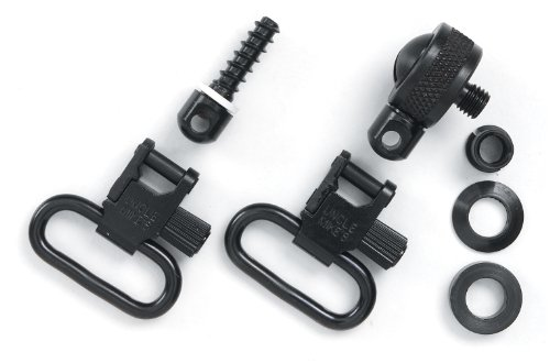 Uncle Mike's Quick Detachable Sling Swivels for Most Pumps and Autos (Blued, 1-Inch Loop)