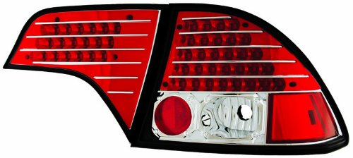 Tail Lamps 4 Piece - IPCW LEDT-745CR Ruby Red LED Tail Lamp with Red Cap - 4 Piece - Pair