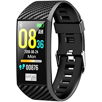 DMMDHR New Waterproof Smart Bracelet Fitness ECG Heart Rate Blood Pressure Monitor Fitness Tracker smart Watch Sports Wristband Estimated Price £52.80 -