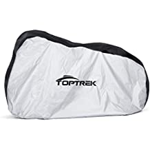 Toptrek Bike Cover Waterproof Outdoor Storage Bicycle Cover for Mountain Bike Road Bike Dirt Rain Snow Bike Protection Large XL Size Heavy Duty 210D Oxford Fabric - Black&Silver