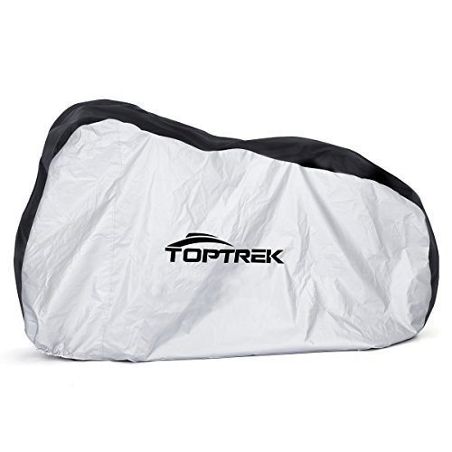 Toptrek Bike Cover Waterproof Outdoor Storage Bicycle Cover for Mountain Bike Road Bike Dirt Rain Snow Bike Protection Large XL Size Heavy Duty 210D Oxford Fabric (Bike Cover)
