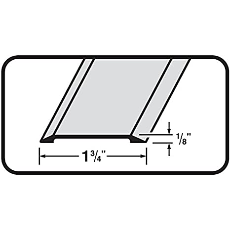 #99027 Flat Top 1-3//4 Wide Aluminum Saddle Door Threshold