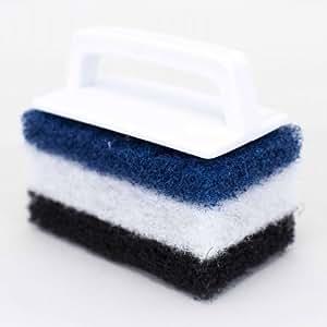 Pentair R111556 650 Multi-Purpose Scrub Brush with 3 Interchangeable Pad