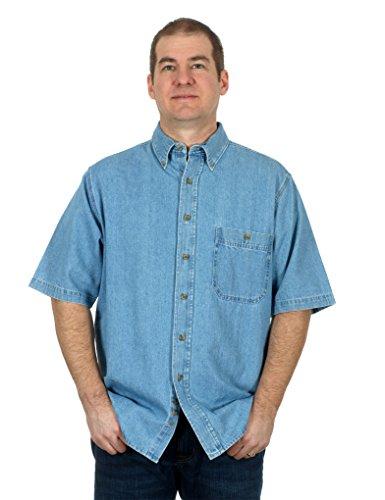 mens-denim-short-sleeve-button-down-shirt-2x-medium-blue