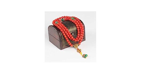 AXstore Pulsera Brazalete 108 Red Coral Bracelet Natural ...
