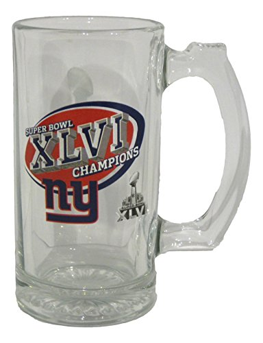 Super Bowl Tankard - Super Bowl XLVI 11 Ounce Beer Tankard Glass