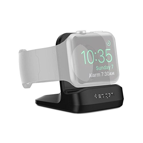 Spigen S350 Designed for Apple Watch Stand with Night Stand Mode for Series 5 / Series 4 / Series 3/2 / 1 / 44mm / 42mm / 40mm / 38mm, Patent Pending - Black by Spigen