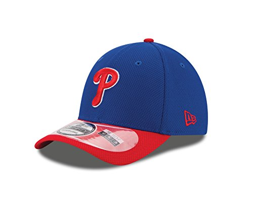 MLB Philadelphia Phillies 2Tone Diamond Era 39Thirty Flex Fit Cap, Blue, ()