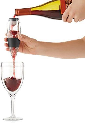 Fosfun FSD01 Wine Aerator Decanter con base para vino tinto, el ...