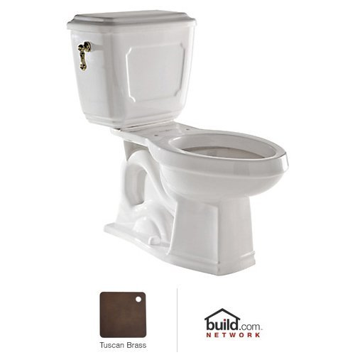 Rohl U.KIT133-TCBKIT PERRIN & ROWE VICTORIAN CLOSE COUPLED WATER CLOSET COMPLETE WITH 9440 STANDARD METAL FLUSH LEVER IN TUSCAN BRASS - Victorian Metal Tank Lever
