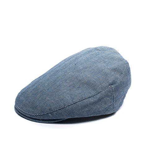 Born to Love Flat Scally Cap - Boy's Tweed Page Boy Newsboy Baby Kids Driver Cap Hat (XS(12-18 Months 49 cm), Navy Herringbone)