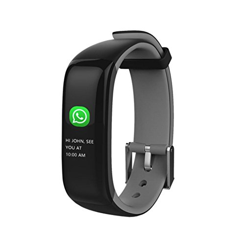 Price comparison product image Lywey P1 Smart Bluetooth Waterproof Watch,  Hand Raise Light Up Sports Fitness Activity Blood Oxygen Watch For Android Xiaomi 8 SE Samsung S7 / S8 / S9 Plus For iPhone 6 6S 7 8 Plus X (gray)