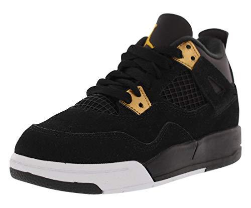 Jordan 4 Retro BP Little Kid's Shoes Black/Metallic Gold/White 308499-032 (12 M US) ()