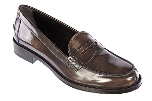 Tod's women's leather loafers moccasins brown US size 6 XXW0RU0H500SHAB203