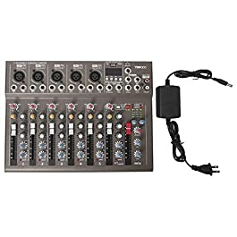 7 Channel bluetooth Live Studio Stereo Audio Mixer Sound Mixing DJ USB Console
