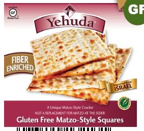 Yehudah Gluten Free Matzo Squares, High Fiber, 10.5 Oz Box (Case of 12) [Misc.] by Yehudah