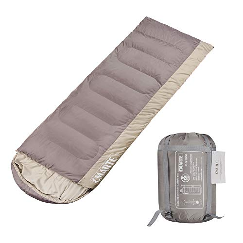 cmarte Sleeping Bag, Backpacking Cotton Envelope Lightweight Portable Outdoor Hiking Camping Sleeping Bag