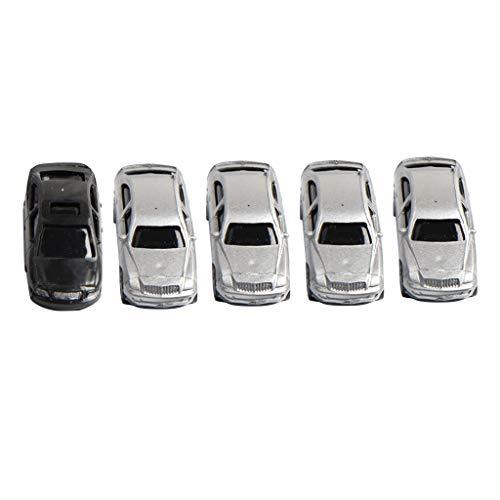 Perfk 5個 ABS樹脂 カーモデル ビルディングモデル シーンアクセサリー 全2サイズ - 1/100スケールの商品画像