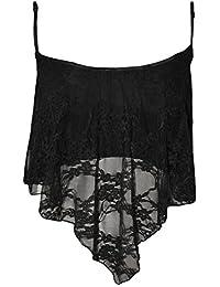 Girls Walk Women's Lace Camisole Crop Top