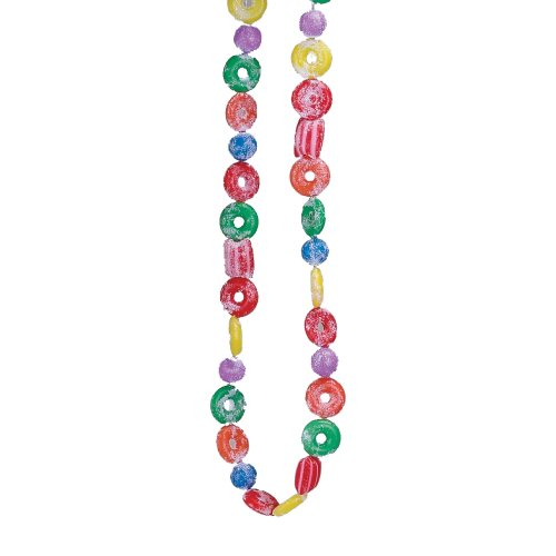 Kurt Adler H1737 9-Foot Plastic Glittered Life Saver, Ball, and Candy Garland ()