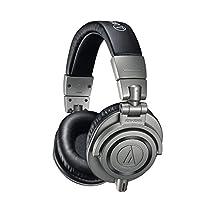 Audio-Technica ATH-M50x Professional Monitor Headphones, Gun Metal