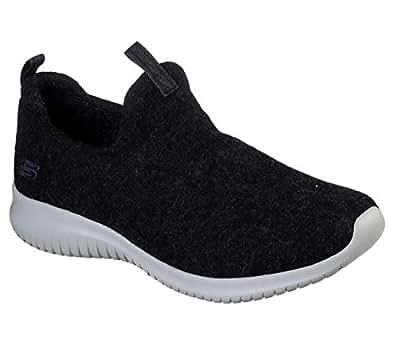 Skechers Wash-A-Wool: Ultra Flex - Little Cozy Womens Sneaker, Black, 7