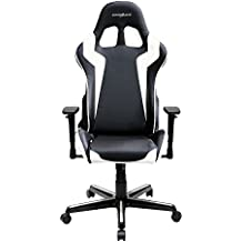 DXRacer Formula Series DOH/FH00/NW Newedge Edition Racing Bucket Seat Office Chair Gaming Chair Ergonomic Computer Chair eSports Desk Chair Executive Chair Furniture With Pillows(Black/White)