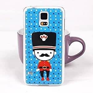 PEACH- Cartoon Characters Pattern PC Back Case for Samsung S5/I9600