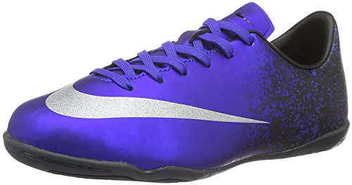 Nike Youth MercurialX Victory V Ronaldo Indoor Shoes [DEEP ROYAL BLUE] - Shoes Girls Soccer Indoor Nike