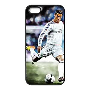 Sports cristiano ronaldo real madrid iPhone 5 5s Cell Phone Case Black Cover protective Skin Shield PJZ003-2301037