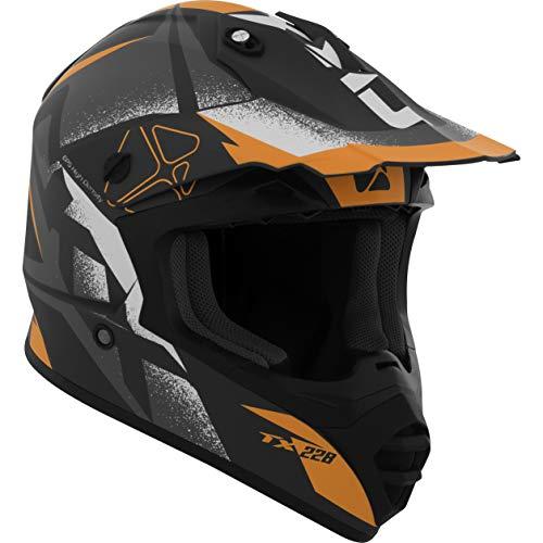 CKX Unisex-Adult Landslide TX228 Off-Road Helmet (Matte Orange Large