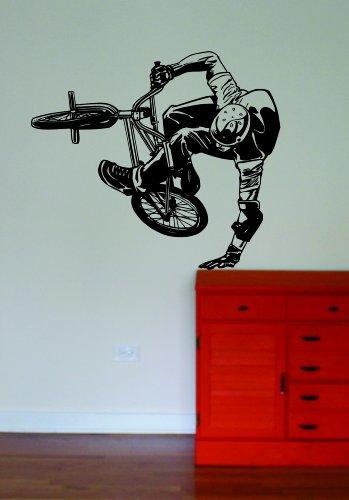 Cheap  BMX Biker Version 5 Decal Wall Vinyl Art Sports Boy Girl Teen