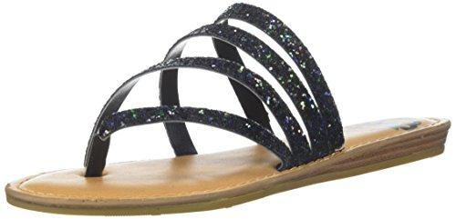 Fergalicious Womens Delaney Flat Sandal Black/Multi